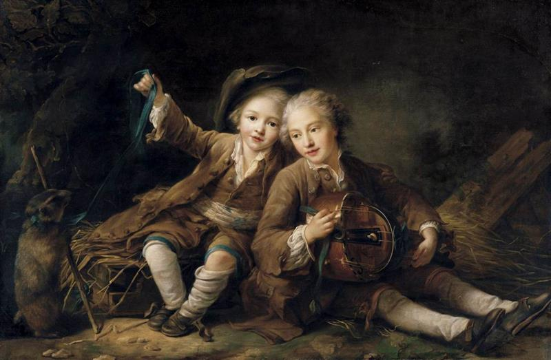 The Children of the Duc de Bouillon Dressed as Montagnards