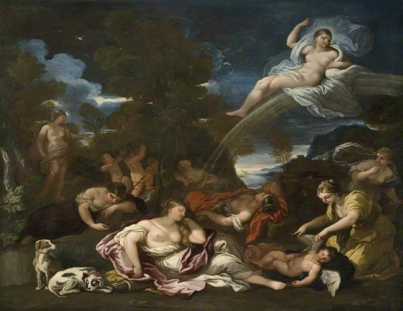 The Disarming of Cupid, an Allegory of Chastity