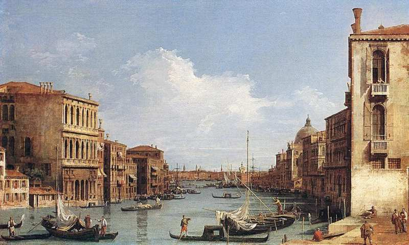The Grand Canal from Campo S Vio towards the Bacino
