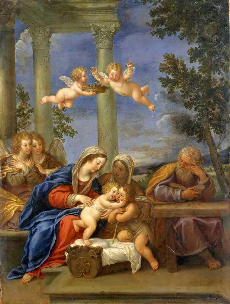 The Holy Family with St Elisabeth and St John the Baptist