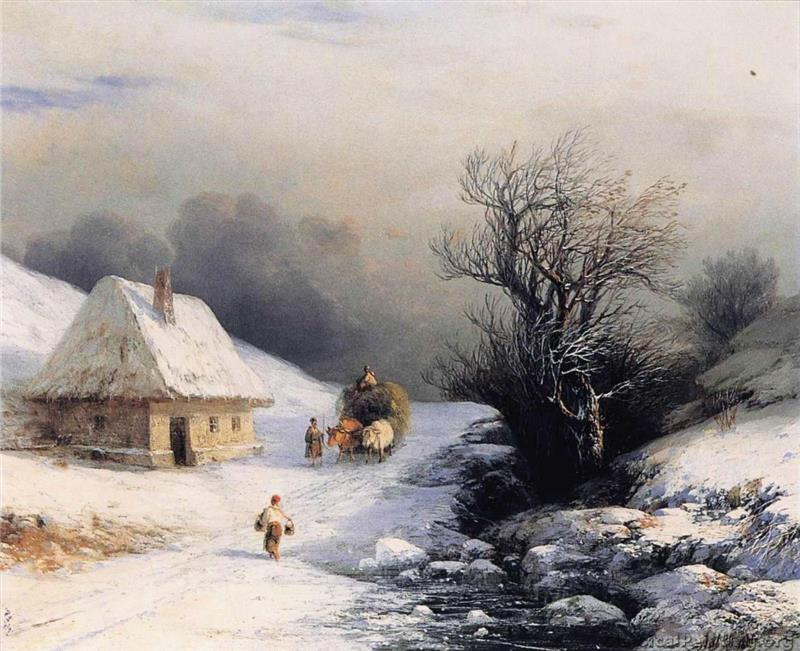 The Ox Cart in Winter