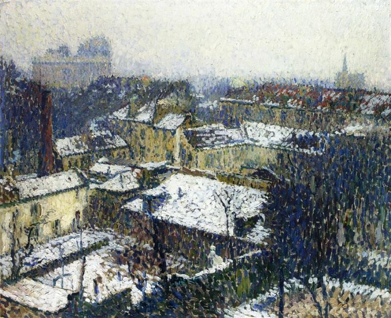 The Roofs of Paris in the Snow, the View from the Artist's Studio