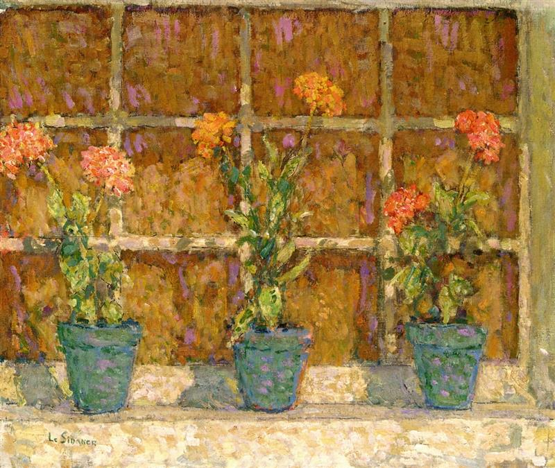 Three Pots of Flowers, Gerberoy
