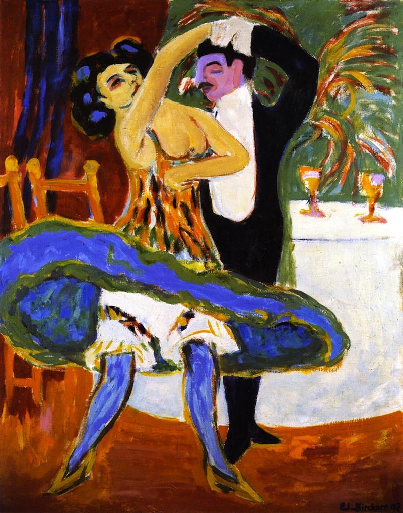 Varieté, Englisches Tanzpaar - Bilder, Gemälde und Ölgemälde-Replikation