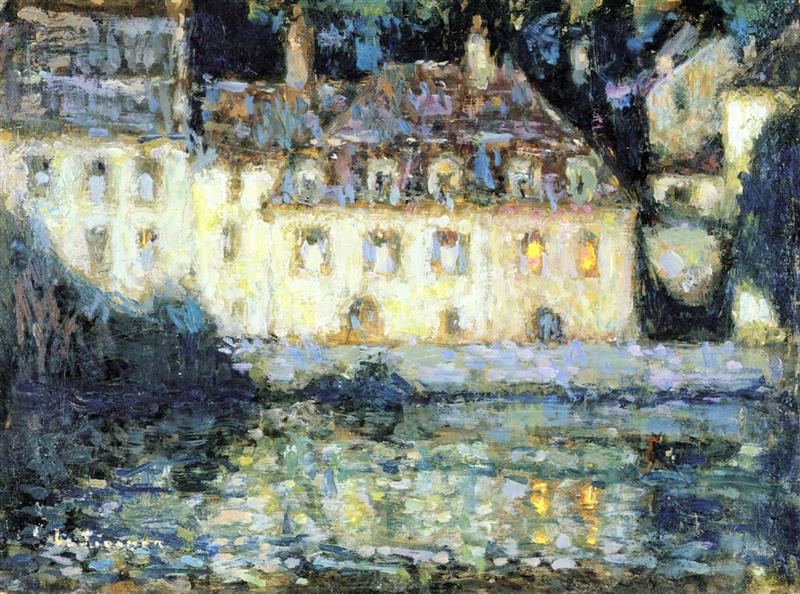 White House in the Evening, Quimperlé