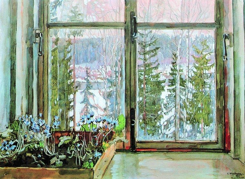 Window with Snowdrops