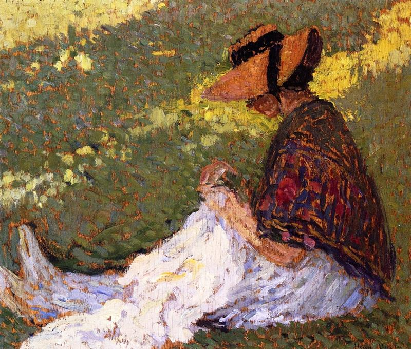 Woman on the Grass