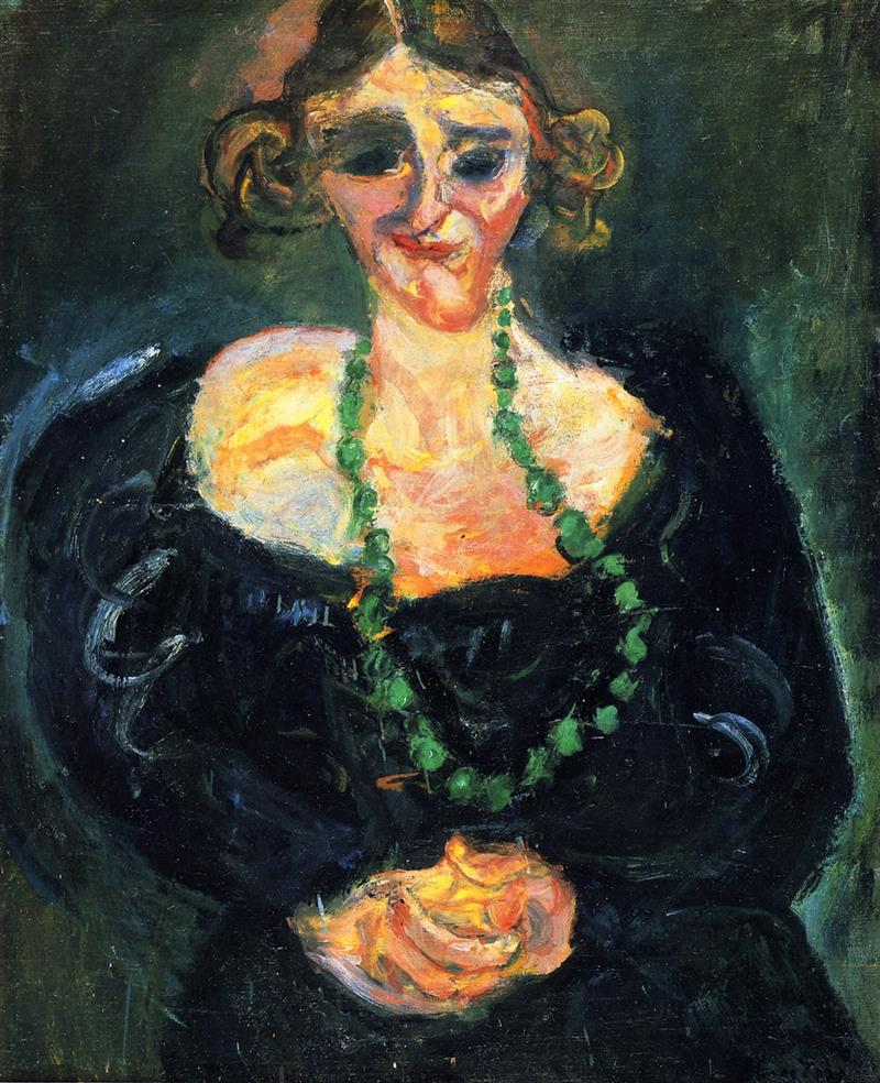 Woman with Green Necklace