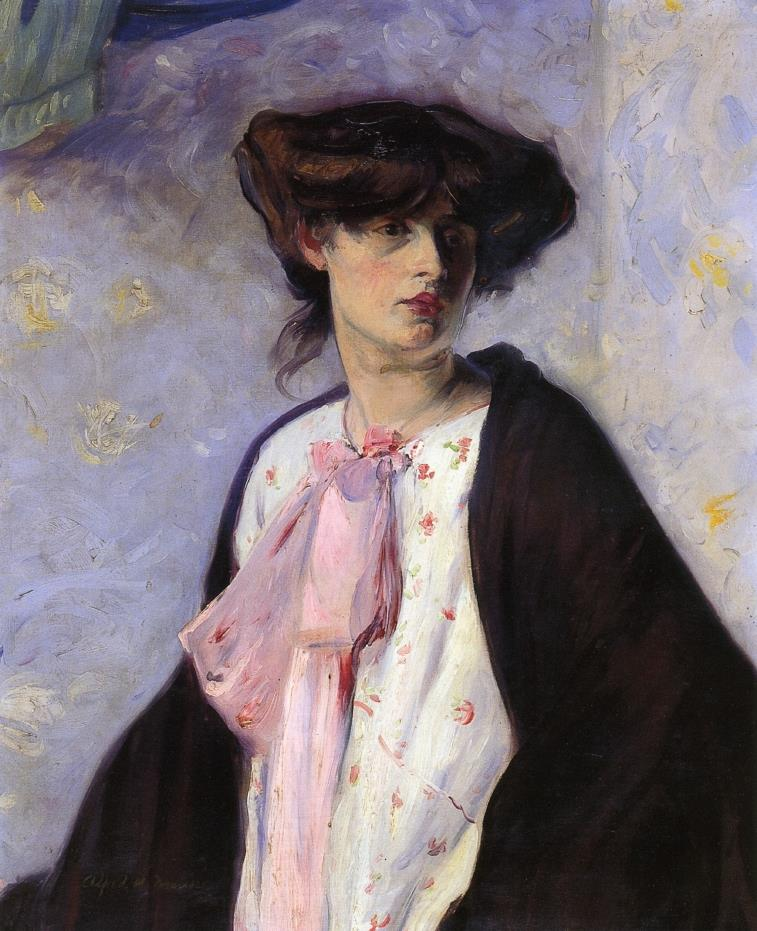 Woman with a Pink Bow