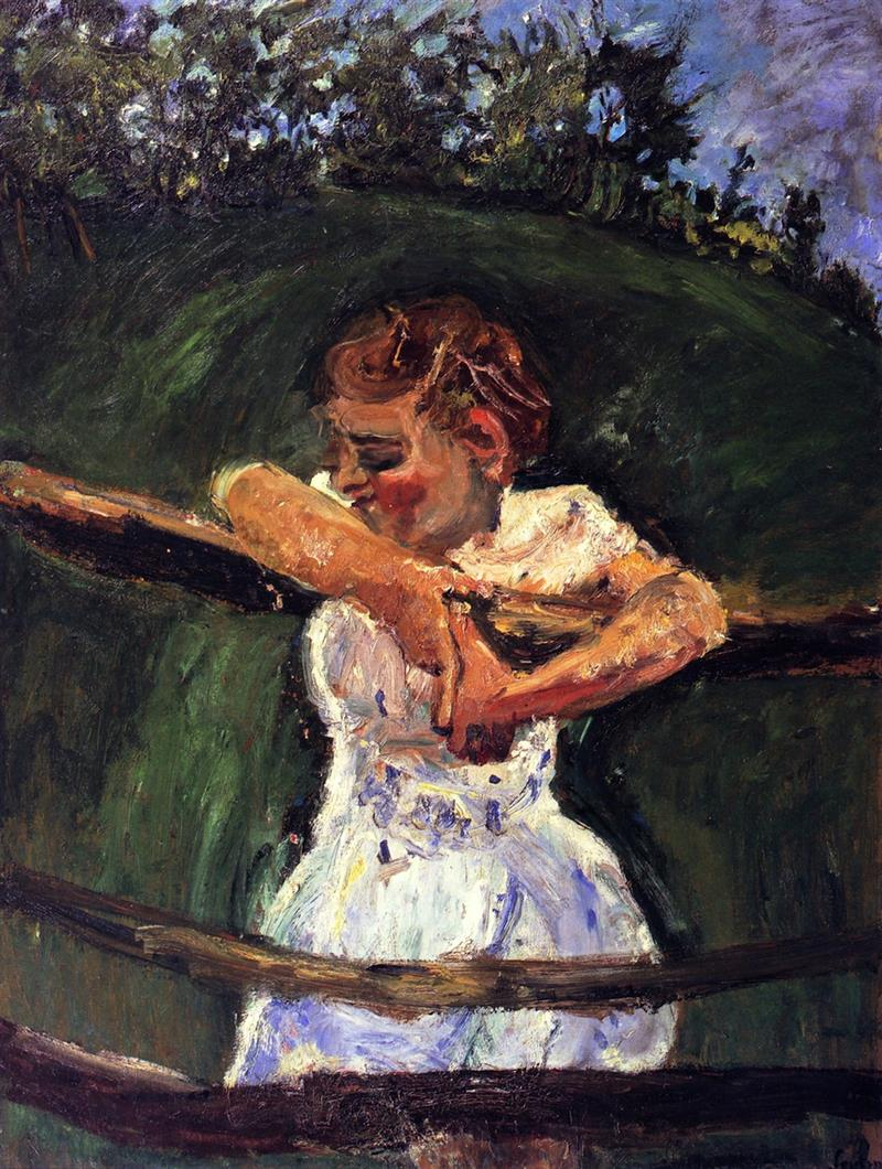 Young Girl at Fence