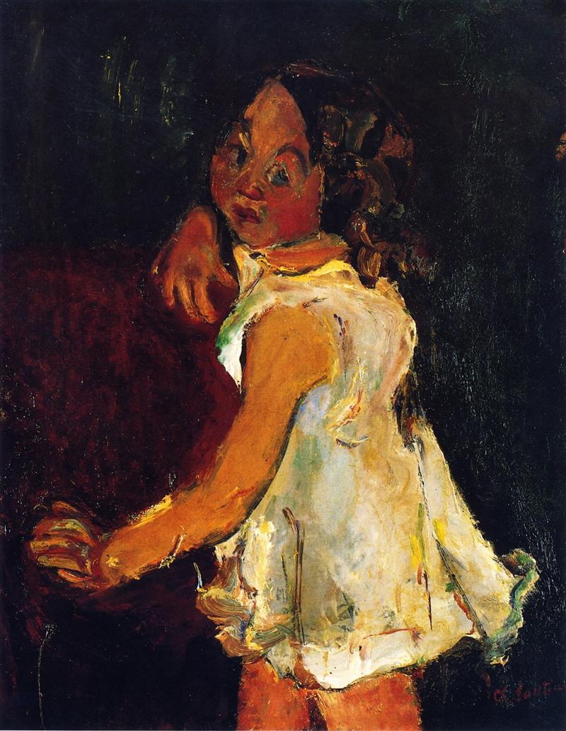 Young Girl by an Armchair