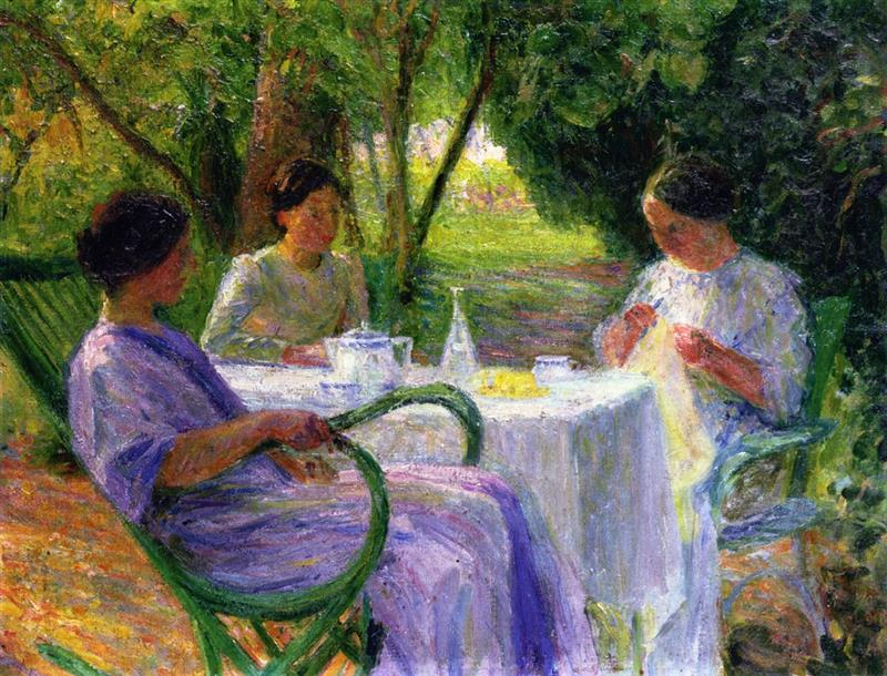 Young Women in the Garden at Marquayrol