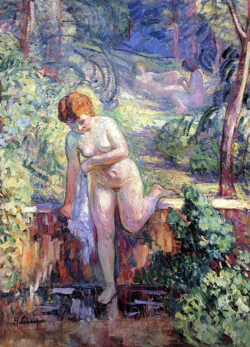 Young girl in a garden at St. Tropez