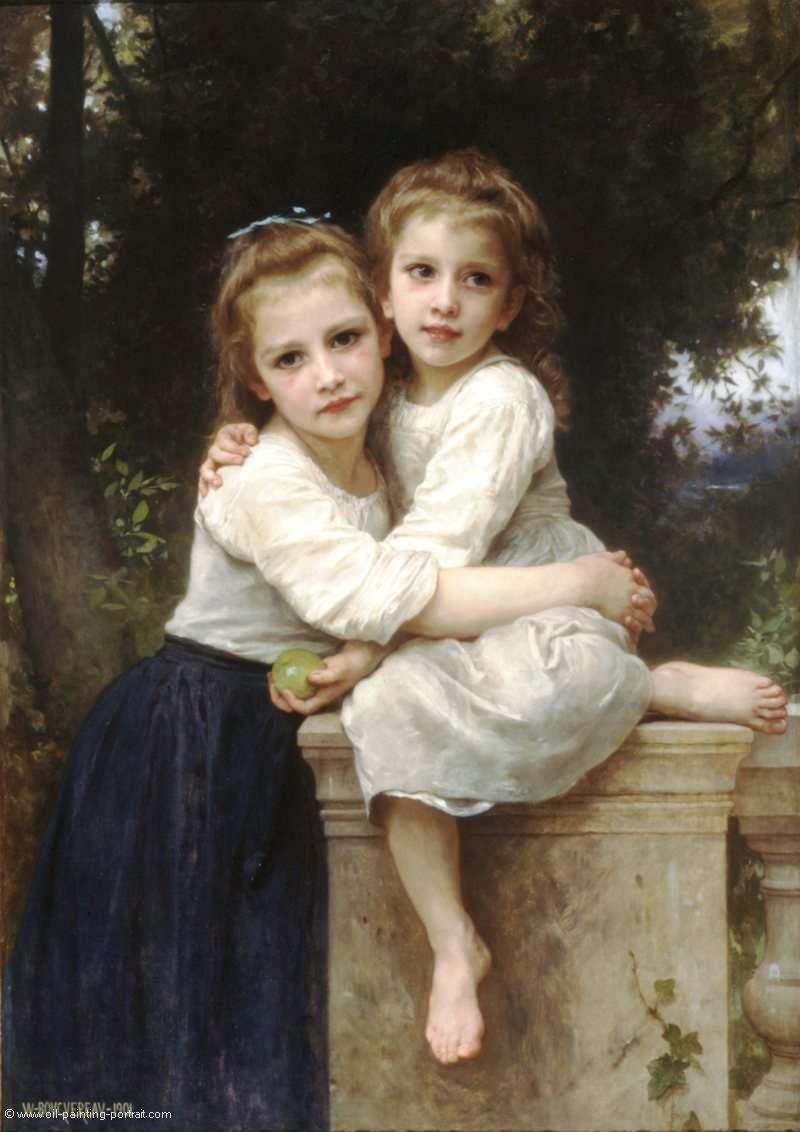 Zwei Schwestern - Bilder, Gemälde und Ölgemälde-Replikation