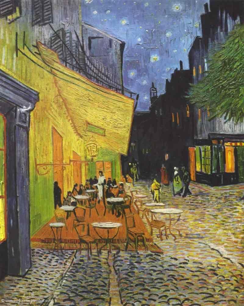 cafeterasse bei nacht