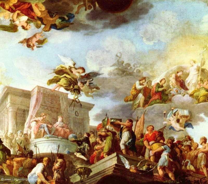 Christophe Colomb Presente Le Monde Aux Majestes Catholiques Relpique Huile Sur Toile Realisee A La Main