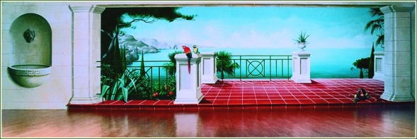 Wandmalerei f r innenr ume und wohnbereiche - Wandmalerei wohnzimmer ...