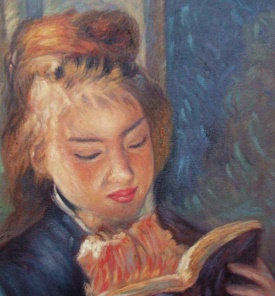 Pierre-Auguste Renoir  Reading Girl Detail