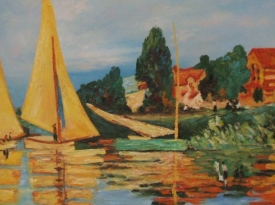 Claude Monet Regatta bei Argenteuil Detail