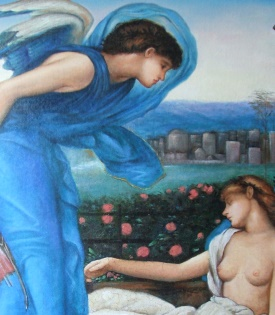 Edward Burne Jones  Cupid finding Psyche Detail
