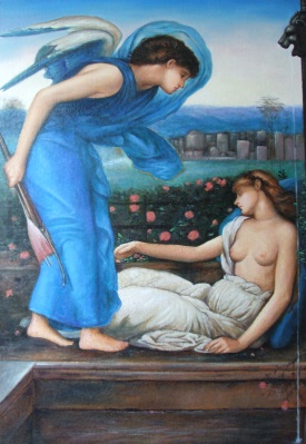 Edward Burne Jones  Cupid finding Psyche
