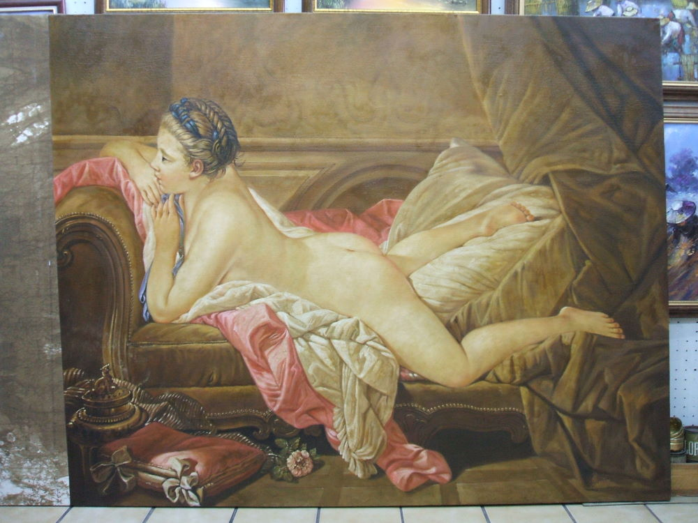 Advise Boucher nude on sofa with