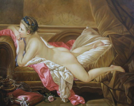 Sofa boucher nude on