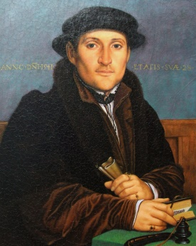 Hans Holbein Unknown Young Man at his Office Desk