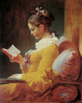 Jean-Honoré Fragonard  A young girl reading