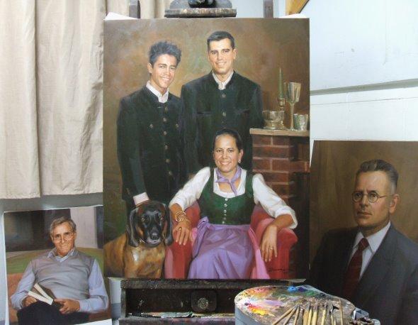 Adelsfamilie Gemälde