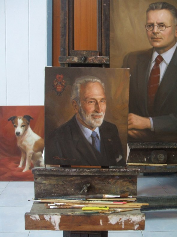 ancestral portrait gallery Oil Painting