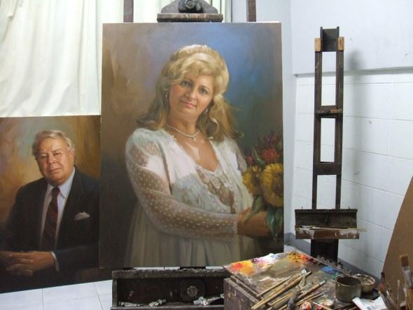 Frau Hochzeitskleid Gemälde