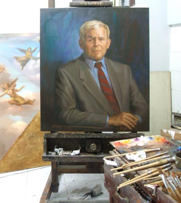 Geschäftsmann Gemälde