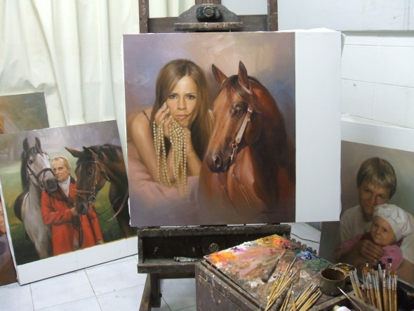 Model Pferd Gemälde