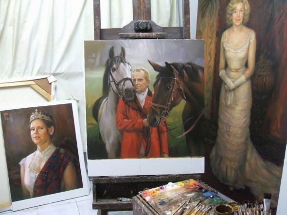Pferde Gemälde