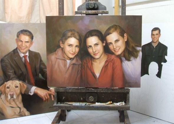 Portrait painting Girl