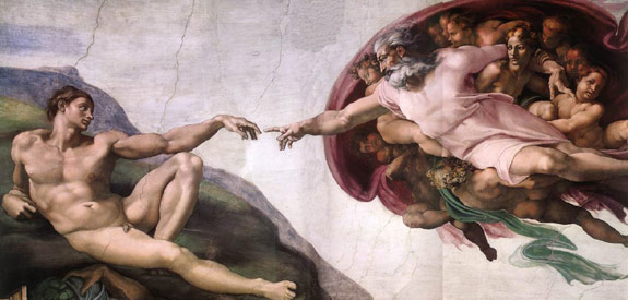 Ölgemälde von Michelangelo nach dem Craque-Verfahren