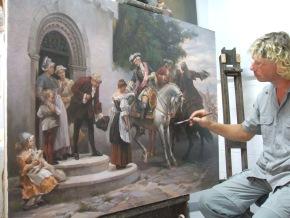 Künstler beim Malen